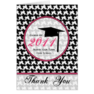 Houndstooth/shock rosastudententack 2011 hälsningskort