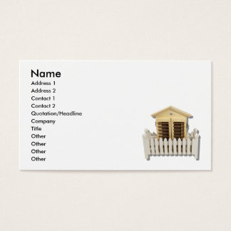 HouseWhitePicketFence082510 namn, adress 1, A… Visitkort