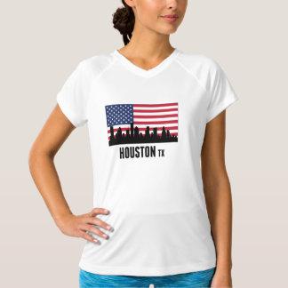 Houston TX amerikanska flaggan T-shirt