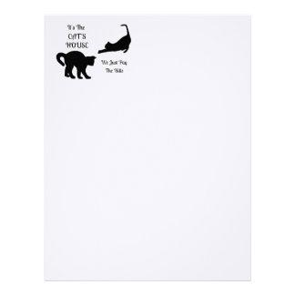 Hövdat papper för roligt katthusbrev brevhuvud