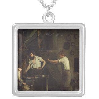 Hovslagarna, minne av Treport, 1857 Silverpläterat Halsband