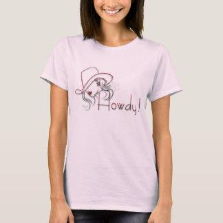 howdy cowgirlrosaskjorta t-shirt