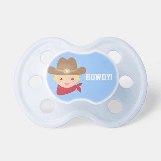 Howdy gullig Cowboy för pyser Napp