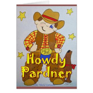 Howdy Pardnergrattis på födelsedagenkort OBS Kort
