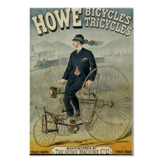 Howe cyklar Tricylces Poster