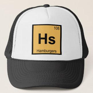 Hs - Symbol för bord för hamburgarekemi periodiskt Truckerkeps