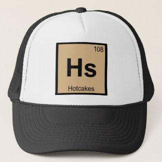 Hs - Symbol för bord för Hotcakeskemi periodiskt Truckerkeps