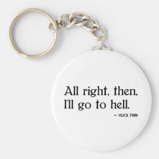 Huckfinländare på helvete rund nyckelring