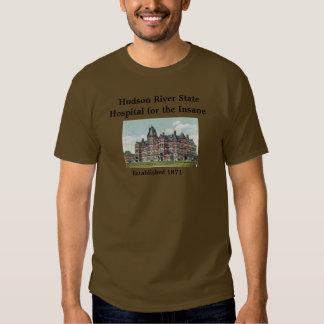 Hudson River statlig sjukhusskjorta Tshirts