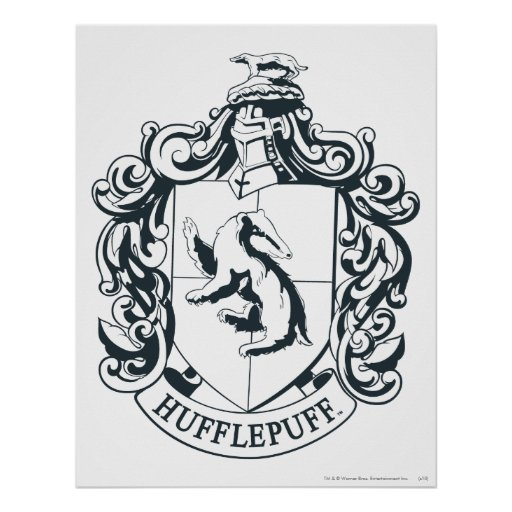 Hufflepuff vapensköld print