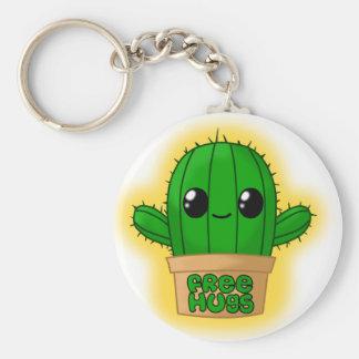 Huggable kaktus rund nyckelring