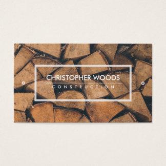 Huggen av wood visitkort