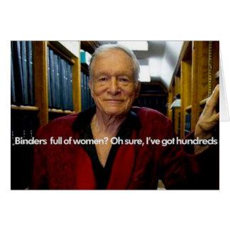 Hughs limbindningfullt av kvinnor hälsningskort