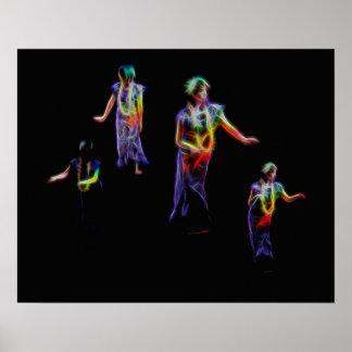 Hula dansareaffisch poster