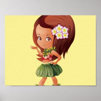 Hula flicka poster