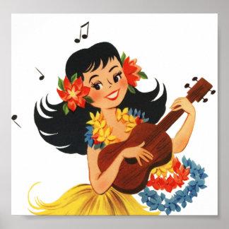 Hula Hula flicka Poster