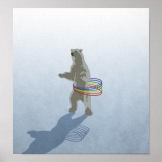 Hula-Ring polar björnaffisch Poster