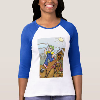 Humanbreadman 3/4 sleeveskjorta t shirt