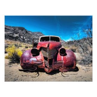 Hummerbilen en vintage Chevy 1939 Fototryck