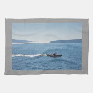 Hummerfartyg och öar av monteringsöde ö handhandukar