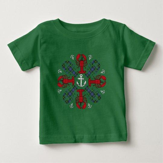 Hummersnowflaken ankrar den fula skjortan för tee shirts