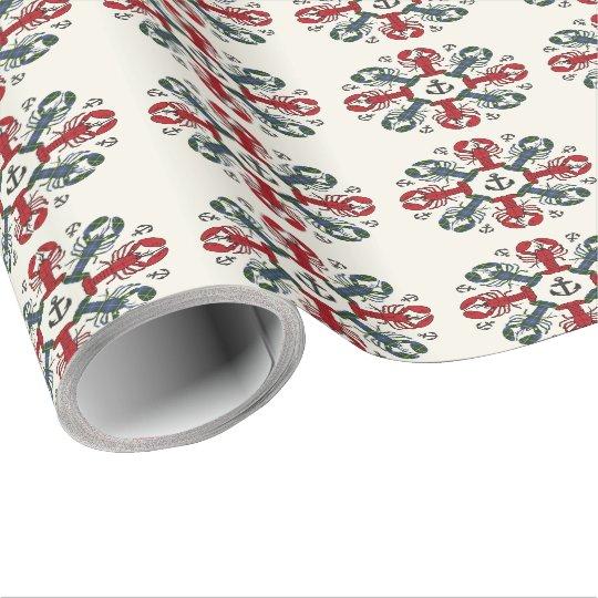 Hummersnowflaken ankrar den N.S. Jul sjalen Presentpapper
