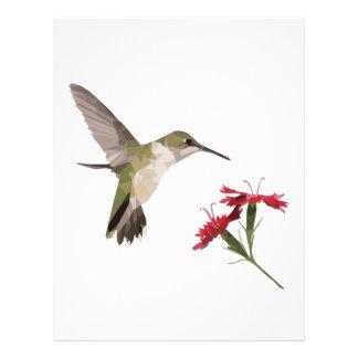 Hummingbird & blomma brevhuvud