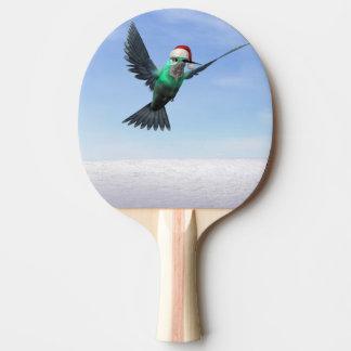 Hummingbird för jul - 3D framför Pingisracket