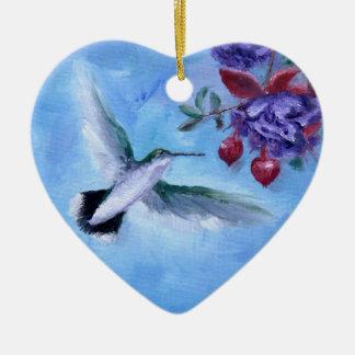 Hummingbird i flygprydnad julgransprydnad keramik