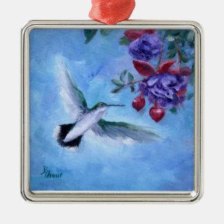 Hummingbird i flygprydnad julgransprydnad metall