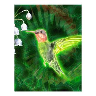 Hummingbird- och liljaFractal Brevhuvud
