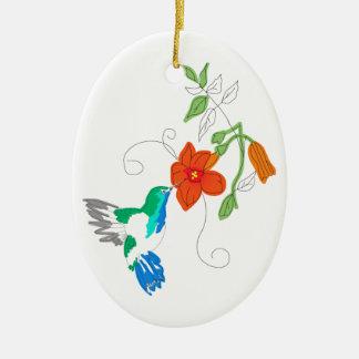 Hummingbird och Vine Julgransprydnad Keramik
