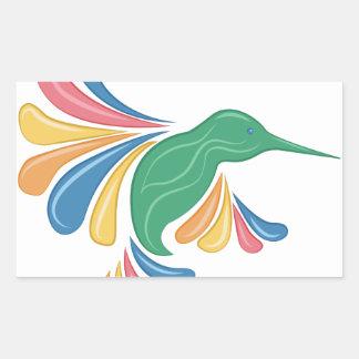 Hummingbird Rektangulärt Klistermärke