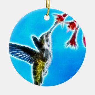 Hummingbird som äter Nectar Julgransprydnad Keramik