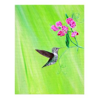 Hummingbird & söta ärtor brevhuvud