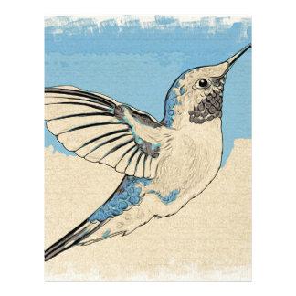 Hummingbirdblått 2 brevhuvud