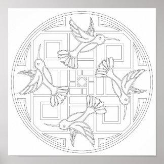 Hummingbirdfärg för OrnaMENTALs #0021 ditt eget Poster