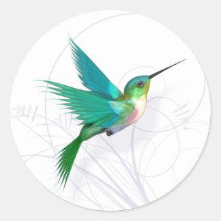 Hummingbirdklistermärke Runt Klistermärke