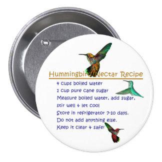 HummingbirdNectarrecept Mellanstor Knapp Rund 7.6 Cm