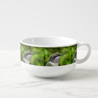 Hummingbirdporträtt Stor Kopp För Soppa