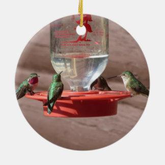 Hummingbirds cirklar prydnaden julgransprydnad keramik