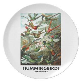 Hummingbirds Dinner Plate