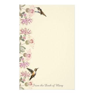 Hummingbirds- & kaprifolblommabrevpapper brevpapper
