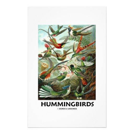 Hummingbirds Anpassningsbara Brevpapper