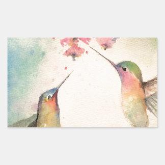 hummingbirds rektangulärt klistermärke