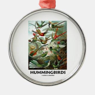 Hummingbirds Rund Silverfärgad Julgransprydnad