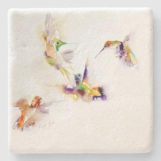 """Hummingbirdtryck """"för fyra akrobater"""" underlägg sten"""