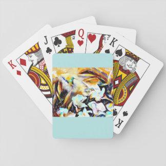 """Hummingbirdtryck """"i för liljarna"""" spel kort"""
