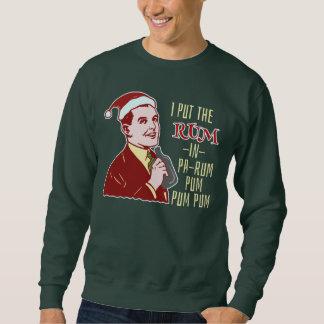 Humor för man för rom för rolig ful jultröja Retro Sweatshirt