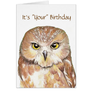 """Humor gullig uggla """"ge födelsedagkort för en dyft"""" hälsningskort"""